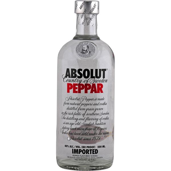 Absolut Peppar Vodka - Venus Wine & Spirit