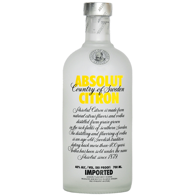 Absolut Citron Vodka - Venus Wine & Spirit