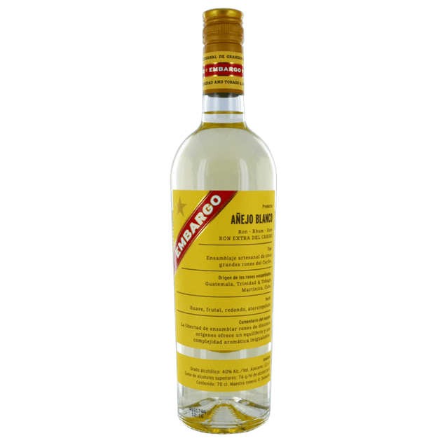 Embargo Anejo Blanco - Venus Wine & Spirit